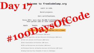 Title Blog #100DaysOfCode Day 17