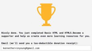 Blog #100DaysOfCode Day 2 Award HTML and HTML 5 Trophy