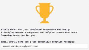 Blog_#Blog #100DaysOfCode Day 6 Award Responsive Web Design Principles Trophy