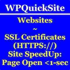 WPQuickSite.com Button Link