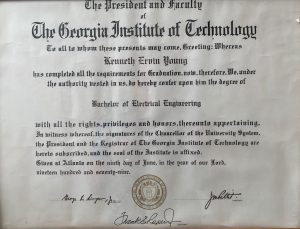 Kenneth Ervin Young College Degree GaTech